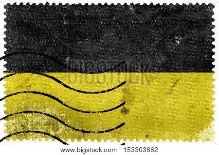 Flag Of Baden-wurttemberg, Germany, Old Postage Stamp