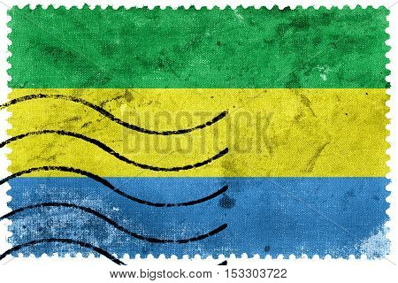 Flag Of Bandung, West Java, Indonesia, Old Postage Stamp