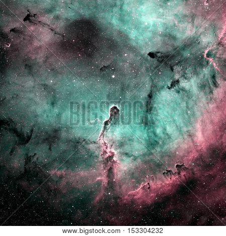 The Elephant's Trunk Nebula In Ic 1396. Constellation Cepheus.