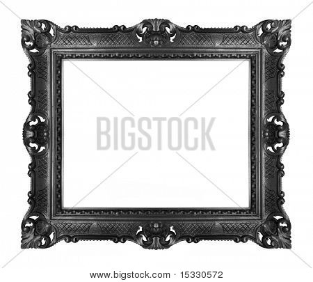 antique black frame isolated