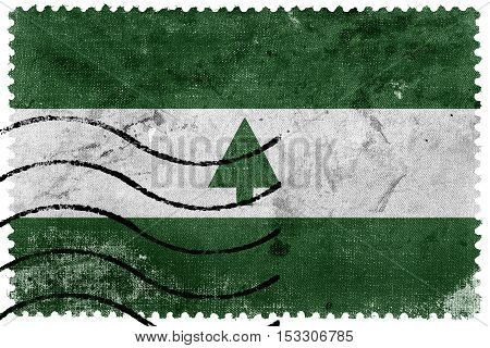 Flag Of Greenbelt, Maryland, Usa, Old Postage Stamp