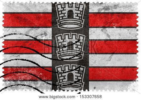 Flag Of Joao Pessoa, Paraiba, Brazil, Old Postage Stamp