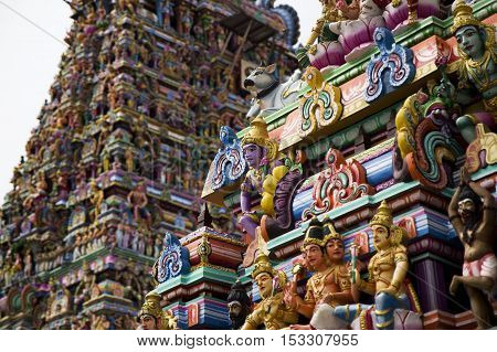 Details of indian Kapaleeswarar temple , Chennai, India