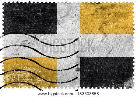 Flag Of Levis, Quebec, Canada, Old Postage Stamp