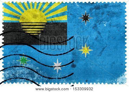 Flag Of Makiivka, Ukraine, Old Postage Stamp