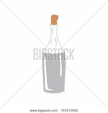 Vector image Vodka moonshine in the bottle