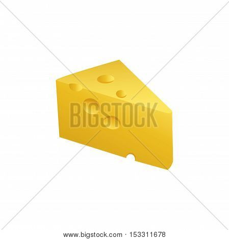 Vector icon A piece of yellow cheese