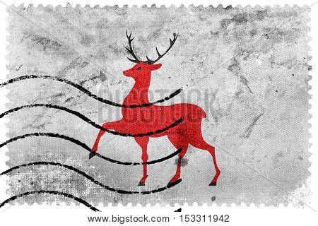 Flag Of Nizhny Novgorod, Russia, Old Postage Stamp