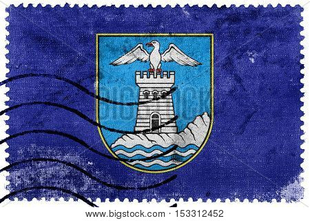 Flag Of Opatija, Croatia, Old Postage Stamp
