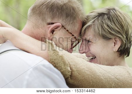 Elderly Senior Couple Romance Love Concept