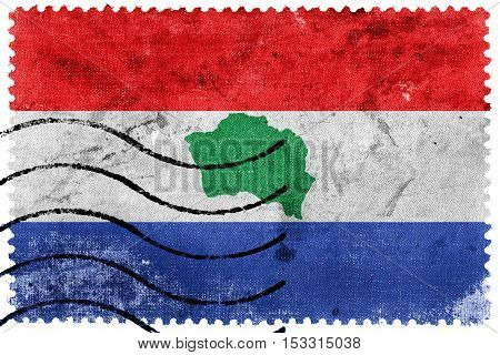 Flag Of Presidente Kennedy, Espirito Santo State, Brazil, Old Postage Stamp