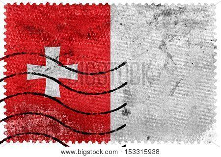 Flag Of Rustavi, Georgia, Old Postage Stamp