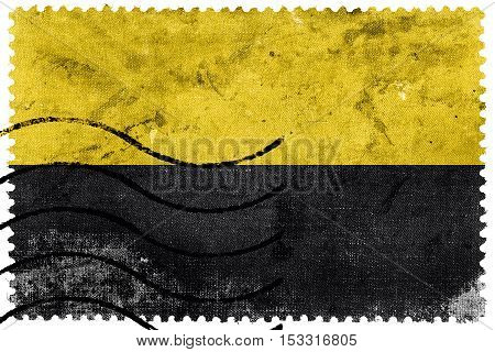 Flag Of Saxony-anhalt, Germany, Old Postage Stamp