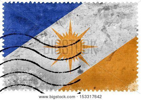 Flag Of Tocantins State, Brazil, Old Postage Stamp