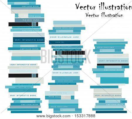Stack of books. Modern design.Vector illustration in flat style