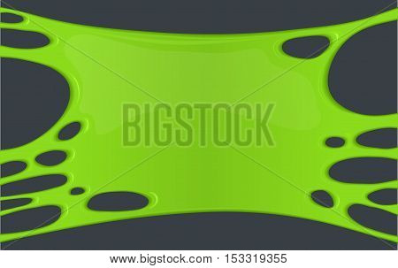 Frame of green sticky slime. Vector creepy background or banner. graphic design element for Halloween. Nightmare and spooky zombie style
