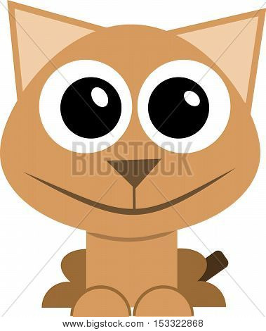 catanimal kitten beautiful vector cutekitten cute beautiful vector cat kittens illustration white animal funny mascot isolated drawing design nature sitting young art background two icon small domestic mammal tail Ukraine