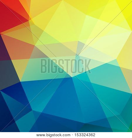 Colorful triangles - vibrant geometric background - raster version