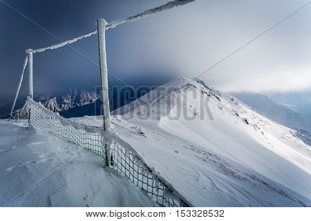 Kasprowy Wierch Covered By Snow In Winter, Poland