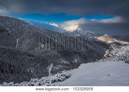 Cold Dawn In Tatra Mountains At Winter, Poland