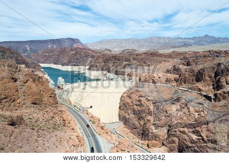 Hoover Dam From The Bypass Bridge
