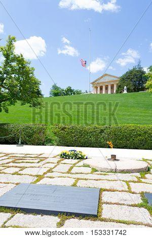 Jfk Grave In Arlington National Cemetery