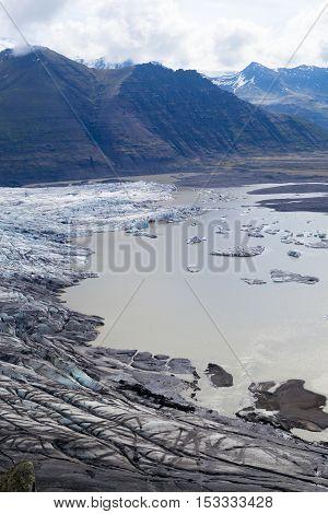 Skaftafellsjokull glacier in Iceland, one of the most popular in iceland