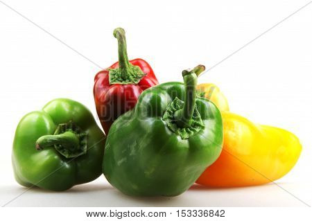 Pepper Isolated On White Background Stock Photos
