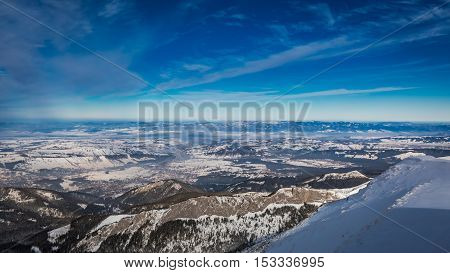 Winter View From Kasprowy Wierch In Tatra Mountains, Poland