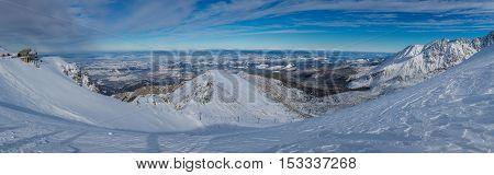 Panorama From Kasprowy Wierch In Winter, Tatras, Poland