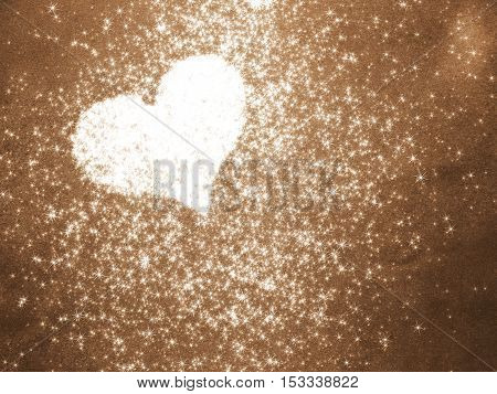 beautiful heart in black and white with sequins