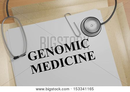 Genomic Medicine Concept