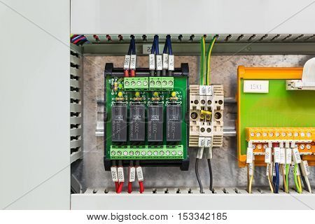 Relays Board In Control Cubicle