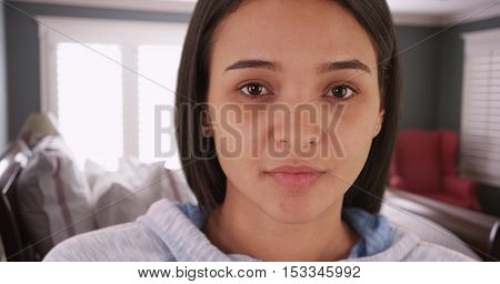 Portrait Of Hispanic Woman With A Blank Stare