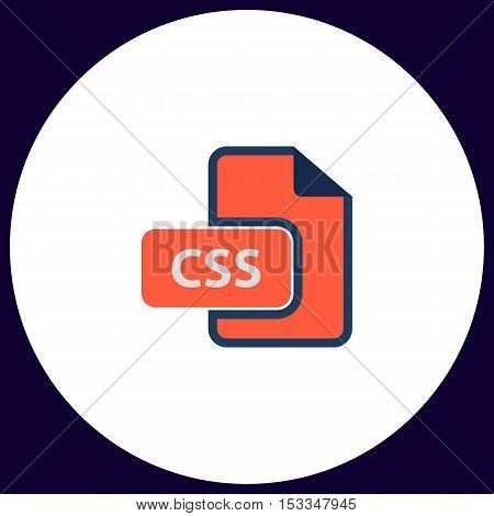 CSS Simple vector button. Illustration symbol. Color flat icon