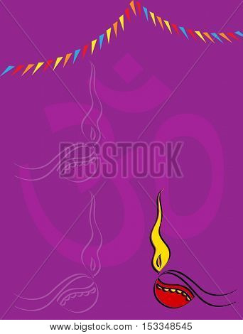 Diwali Greeting Design Vector Art