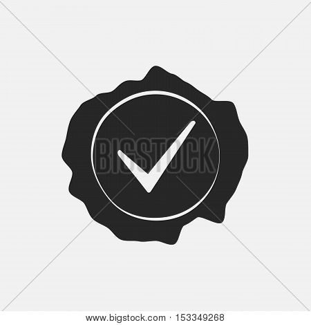 Stamp Check Mark Overlay Texture. Empty Design Template. EPS10 vector.