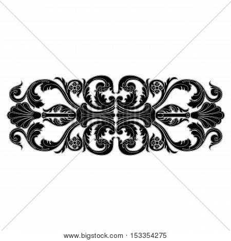 Vintage pattern, baroque pattern, frame pattern, scroll ornament pattern, engraving pattern, border pattern, floral patttern, retro pattern. vector