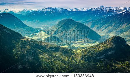 View On Mountain Peaks From The Loser, Austria, Alps