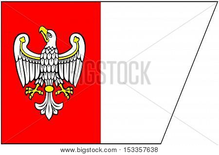 Flag of Greater Poland Voivodeship or Wielkopolska Province in west-central Poland