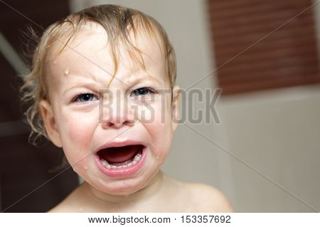Child Crying In Bath