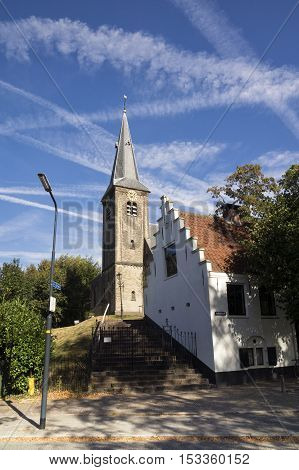 The Willibrord church in the Dutch village Nederhorst den berg was built in the twelfth century on a natural sandhill that was created during the last ice age