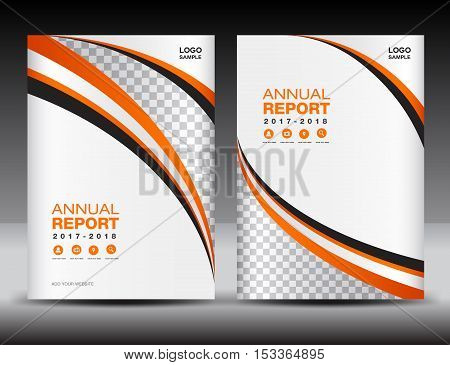 Orange Cover template, cover annual report, cover design business brochure flyer magazine, covers book , cover presentation