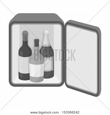 Mini-bar icon in monochrome style isolated on white background. Hotel symbol vector illustration.