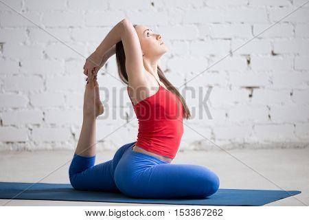 Yoga Indoors: Eka Pada Rajakapotasana Pose