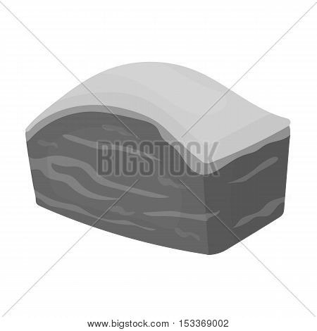 Pork belly icon in monochrome style isolated on white background. Meats symbol vector illustration