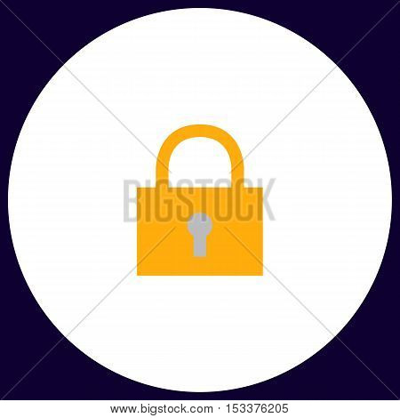 lock pad Simple vector button. Illustration symbol. Color flat icon