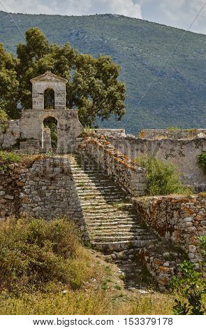 Orthodox chapel in the Venetian fortress of Agia Maura at the Greek island of Lefkada