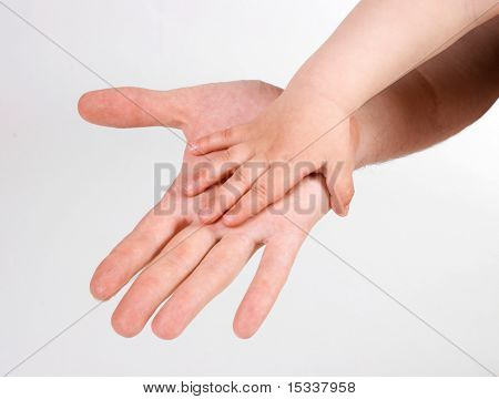 Father and child's hands