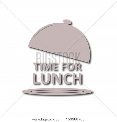 Time For Lunch icon on white background